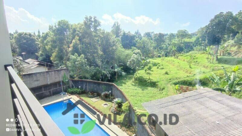 Villa RST4 Cisarua Puncak Fasilitas Kolam Renang Dan Billiard View Gunung